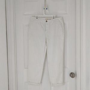 White Cotton Capris